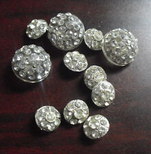 Lot of 11 Vintage Fancy Art Deco Style Costume Clothes Buttons LOOK