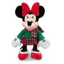 """Minnie Mouse Disney Store Original Plush 17"""" Soft Cuddly Christmas 2012 3+ NWT"""