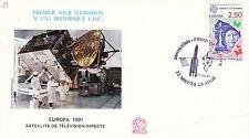 AA118 enveloppe thème ESPACE premier Jour emission aérospatiale Foire de Mantes