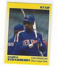 1991 STAR BASEBALL DARRYL STRAWBERRY MINOR LEAGUE STATS #2 OF 11 - LA DODGERS