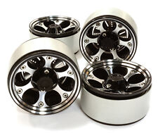C26615BLACK Integy 1.9 Size Billet Alloy 6H Spoke Wheel(4)High Mass for Crawler