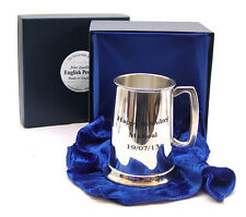 ENGRAVED PINT BEER TANKARD LUXURY BOX Mens New Birthday Special Day Gift 40%OFF