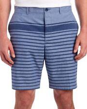 Penguin by Munsingwear Mens Navy Blue Striped Flat-Front Shorts NWT $79 Waist 34