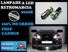 COPPIA LAMPADA RETROMARCIA LED H6W BA9S CANBUS 6000K NO ERROR VW Passat CC