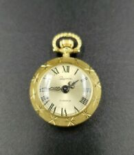 GOLD LADIES 17 JEWELS PENDANT WATCH BY SCHIAPARELLI MANUAL WIND *EXC   40