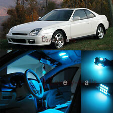 10Pcs Deluxe Ice Blue Light Interior LED Package Kit For Honda Prelude 1998-2001