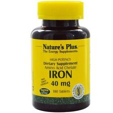 Iron, 40 mg, 180 Tablets - Nature's Plus