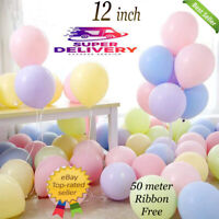 Pack of 100 Pastel Latex Balloons Macaron Candy Mixed Colored Party 12'' Balloon