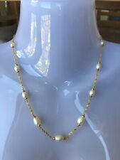 HONORA Italy Gold Plated Chain & Cultured Freshwater Pearl Necklace