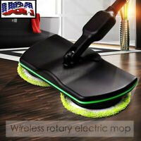 Electric Rechargeable Mop Cordless Powered Home Floor Cleaner Scrubber Polisher