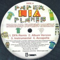 "M.I.A. ""PAPER PLANES (HOMELAND REMIXES)"" 2008 12"" VINYL SINGLE ~RARE~ *SEALED*"