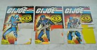 Lot 1983 GI Joe Cobra Commander Officer Soldier v1.5 Swivel Arm File Card Backs