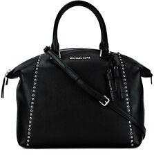 Michael Kors Tasche/Bag Riley Grommet LG Satchel Bowling-Bag Leather Black NEU!