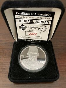 Michael Jordan Highland Mint Medallion Limited Edition Silver Coin #2477 / 7,500