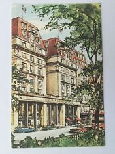 Postcard Park Lane Hotel Piccadilly London old cars A3