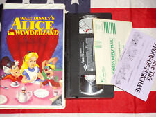 Alice in Wonderland VHS Walt Disney Video Clamshell Rare Proof of Purchase Tape
