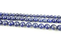 "Natural Round smooth lapis lazuli Jewelry Making loose GEM beads strand 15"" AAA"