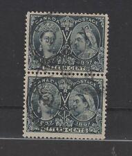 CANADA  #58 Jubilee vertical pair used Very Fine