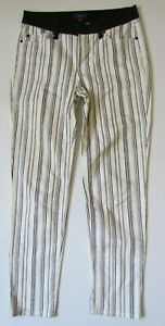 NOT YOUR DAUGHTERS JEANS BLACK STRIPED CROPS/ANKLE/CAPRIS SIZE - 6  - W28 L28.5