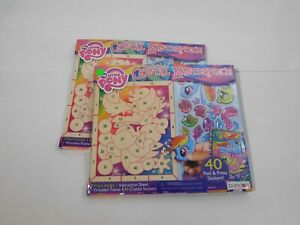 2 Bendon My Little Pony Crystal Masterpiece Sticker Sets With Hanging Wood Frame