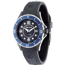 Orologio SECTOR 250 R3251161502 Silicone Nero Ghiera di Cristallo Sub 100mt