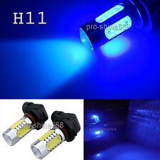 2017 H11 H9 H8 10K Blue COB HID LED Projector Bulbs For Fog Lamp Daytime Lights