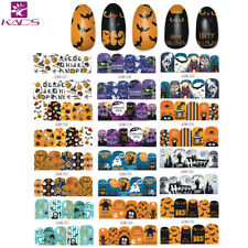 KADS 12 Pcs Halloween Nail Art Stickers Water Transfer Decals Manicure Tool