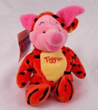 The Disney Store Mini Bean Bag Piglet as Tigger in Costume Plush Toy