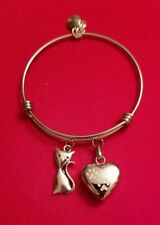 Silver Cat Cremation Urn Bracelet  (cremation jewelry,  cat )