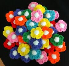 DIY HAND CRAFT 40 FLOWERS CROCHET SEWING DECORATIVE CLOTHING HAT YARN KNITTING