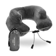 Cabeau Premium Grey Inflatable Air Evolution Travel Neck Pillow + Pouch + Cover