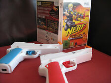 Nintendo Wii nerf NERF-N-STRIKE Game + 2 New Wii GUN Attachments Nintendo PAL UK