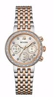 Bulova Women's  Maiden Lane Diamond Accents Chronograph 30mm Watch 98R215