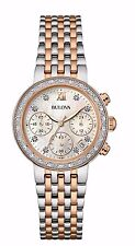 Bulova Women's 98R215 Maiden Lane Diamonds Chronograph Stainless Steel Watch