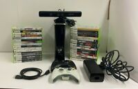 Microsoft Xbox 360 Bundle 250GB S Console w/32 Games Sensor Bar 2 Controllers
