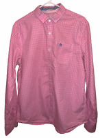 PENGUIN BY MUNSING WEAR Mens LARGE Slim Fit Dress Shirt Button Down Pink White
