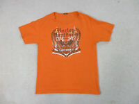 Harley Davidson Adult Extra Large Orange Black Orlando Florida Motorcycle Mens *