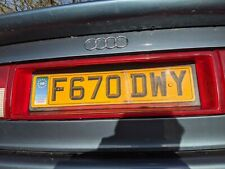 AUDI 80 90 B3 B4 COUPE REAR BACK CENTRE NUMBER PLATE LIGHT SURROUND REFLECTOR
