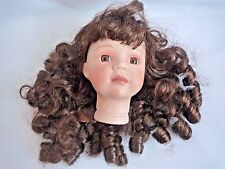 CERAMIC DOLLS HEAD / WITH HAIR / DOLL MAKING PARTS