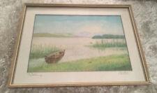 """Bild, Gemälde, Landschaft, Malerei, Pastellzeichnung """"Am Simsee"""""""
