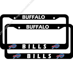Buffalo Bills 2PCS Metal Chrome License Plate Frame Set Auto Truck Car Tag Cover