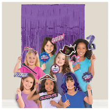 Disney Descendants 3 Birthday Party Back Drop and 20 Photo Booth Props