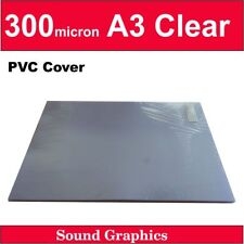 300micron A3 Binding Clear Covers x 50 sheets