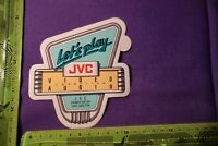 Alter Aufkleber JVC Erfinder der VHS VIDEO AUDIO CASSETTEN