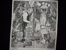 * Tri Chem 8491 Norman Rockwell April Fools Old Man Girl Dolls Picture Trichem
