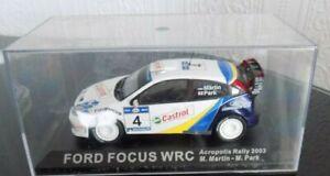 "DEAGOSTINI IXO 1/43 ""FORD FOCUS WRC,M.MARTIN.ACROPOLIS RALLY 2003,NEW IN CASE"