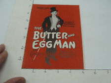 Vintage Original Program -- THE BUTTER & EGGMAN gregory kelly - plymouth theatre