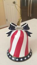 Danbury Mint Ringing in Christmas Bell Santa 2007 Patriotic Christmas Ornament