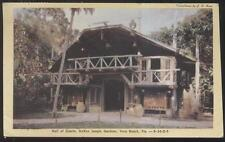 Postcard VERO BEACH Florida/FL  McKee Jungle Gardens Hall of Giants 1940's