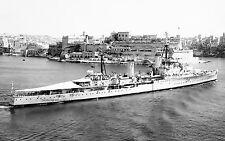 ROYAL NAVY CROWN COLONY CLASS CRUISER HMS KENYA AT MALTA c 1941